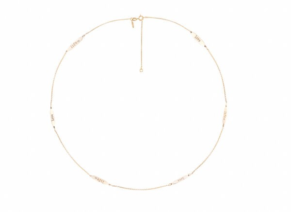 MYLES LOVE-LIFE NECKLACE IN 14K YELLOW GOLD