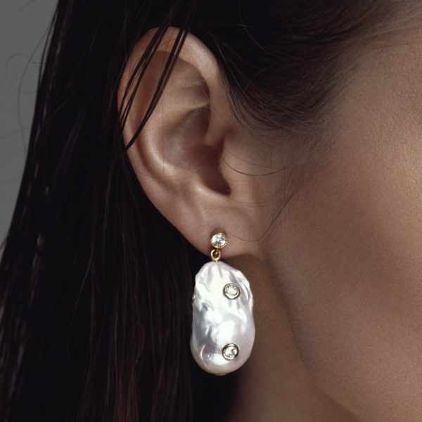 BAROQUE EARRINGS IN CULTURED PEARLS WITH 14K YELLOW GOLD4