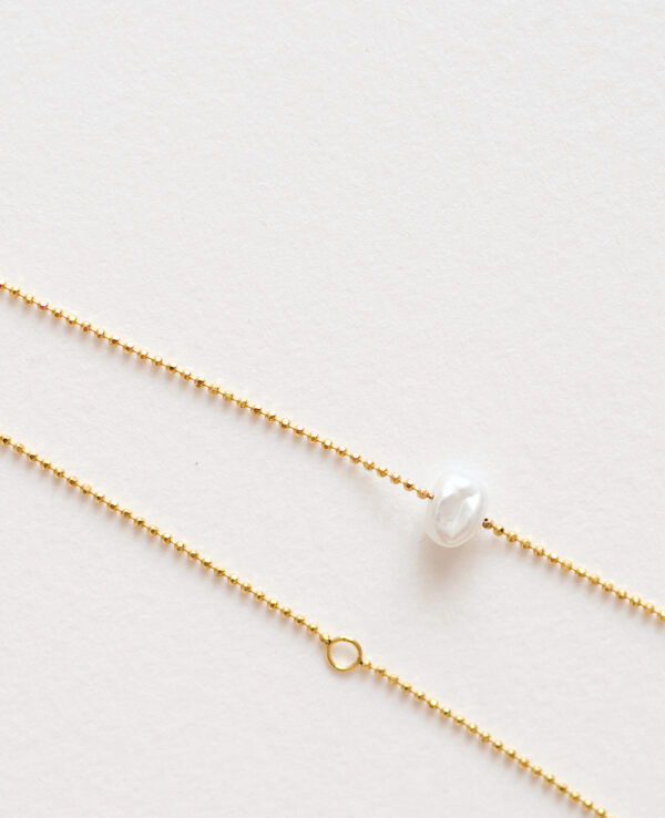 JOYCE BEAD PEARL NECKLACE IN GOLD2