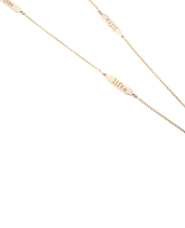 MILAN LOVE LIFE 14 – KARAT YELLOW GOLD OR WHITE GOLD CHAIN WITH 3 DIAMONDS4