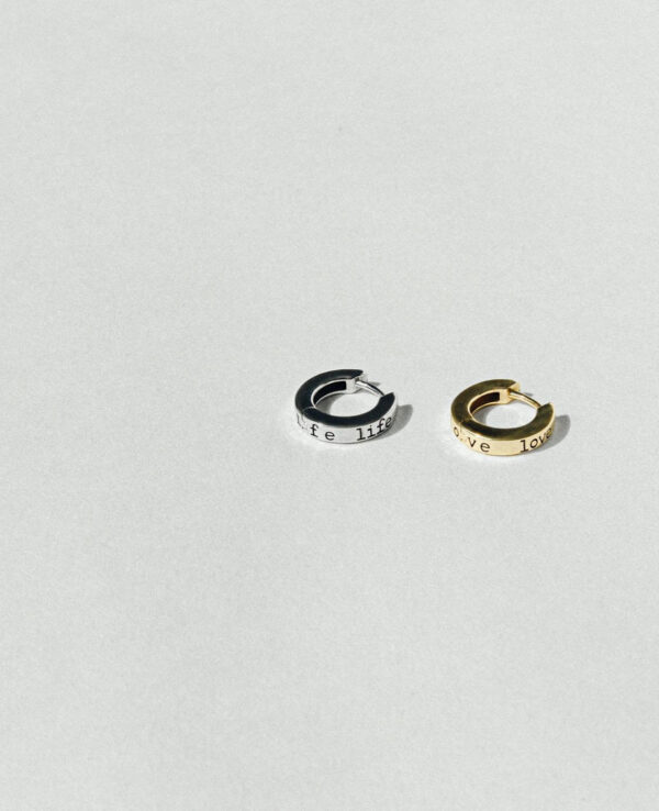 PAIGE LIFE HOOP WHITE GOLD EARRING1