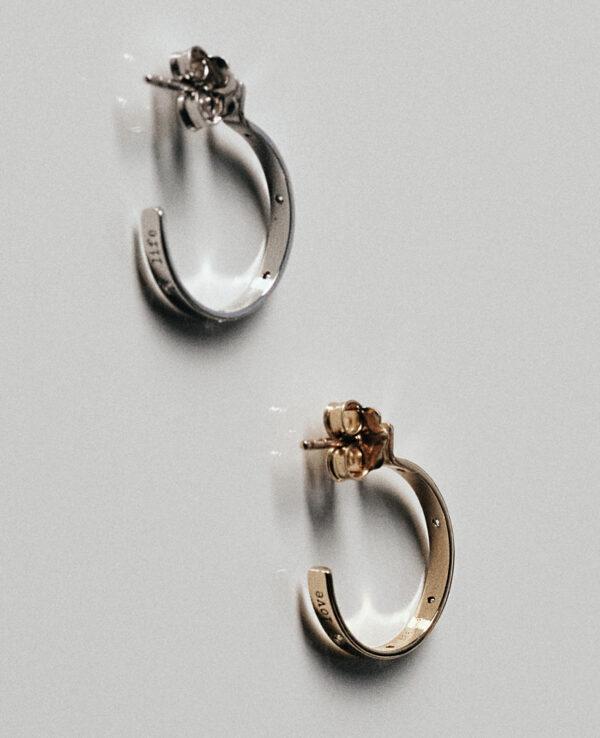 ELLIS XS EARRINGS WITH 5 DIAMONDS0779